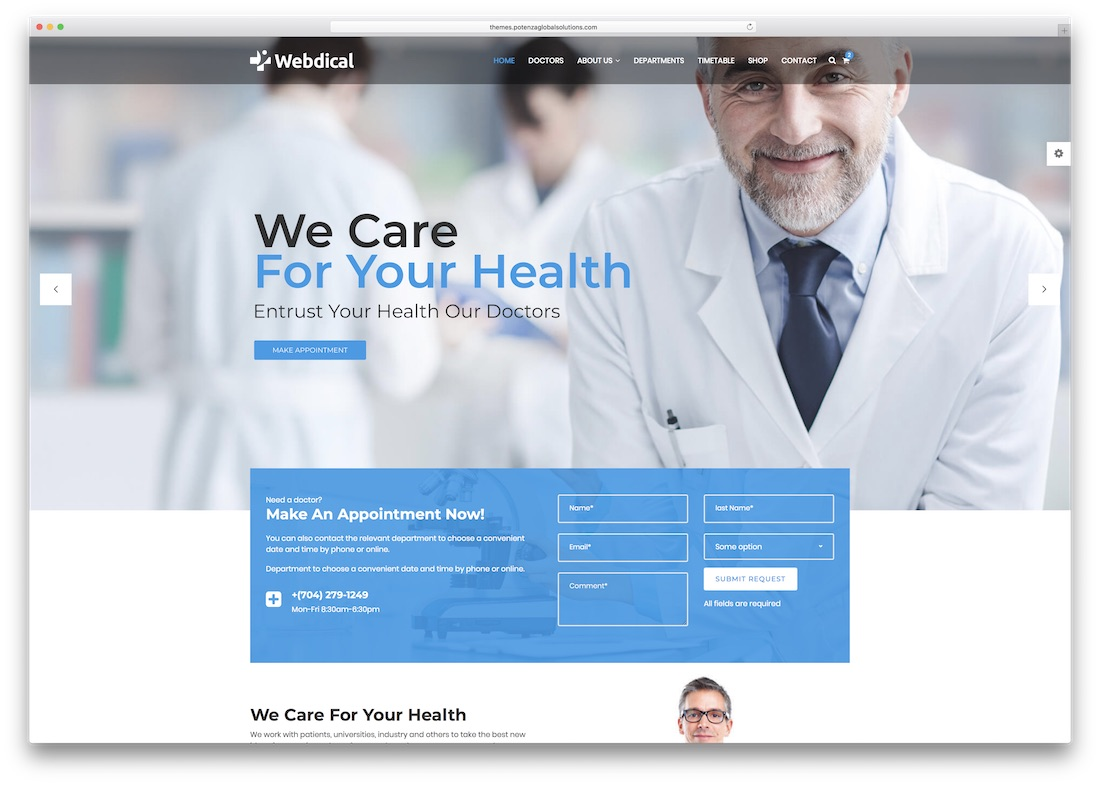 webster medical website template
