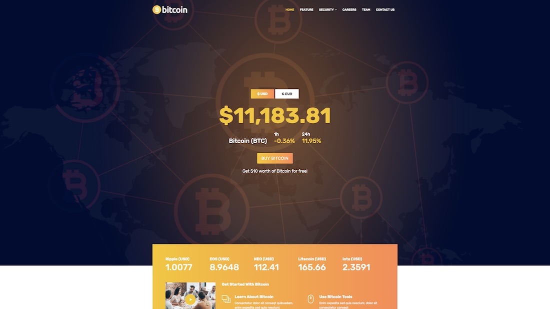 webster mobile-friendly website template