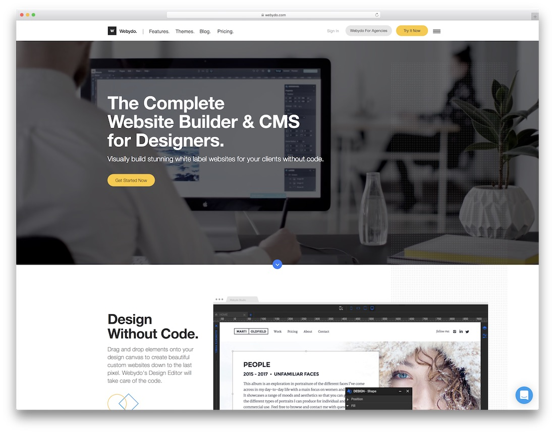 webydo website builder for designers