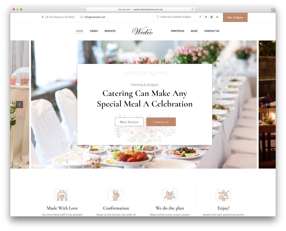 wedco catering wordpress theme