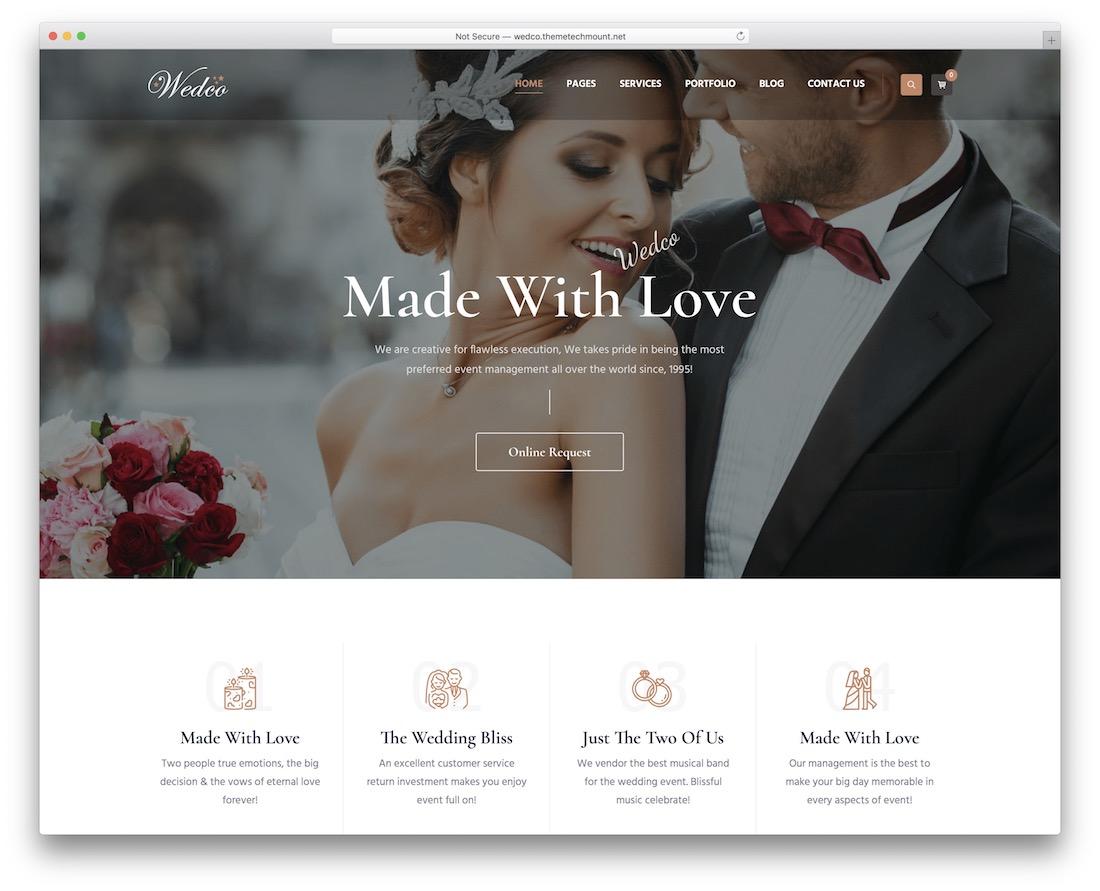 wedco wedding template