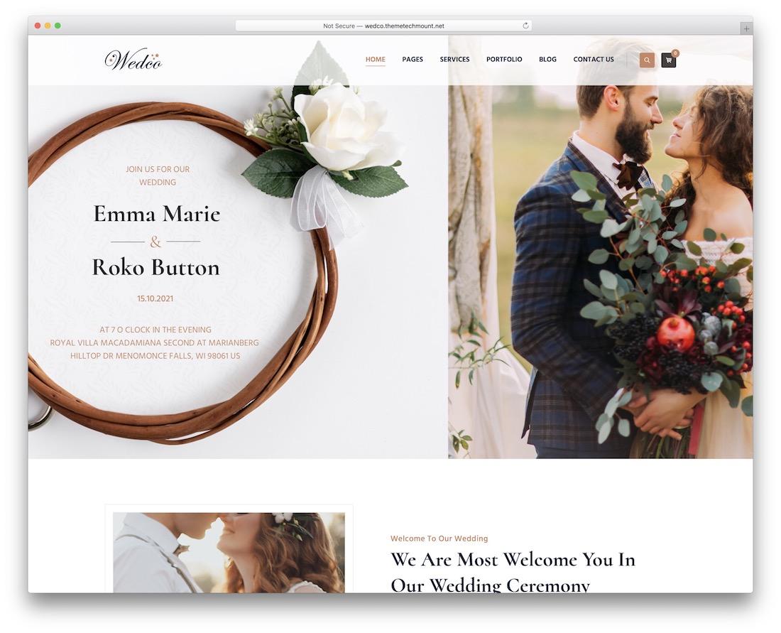 wedco wordpress wedding theme