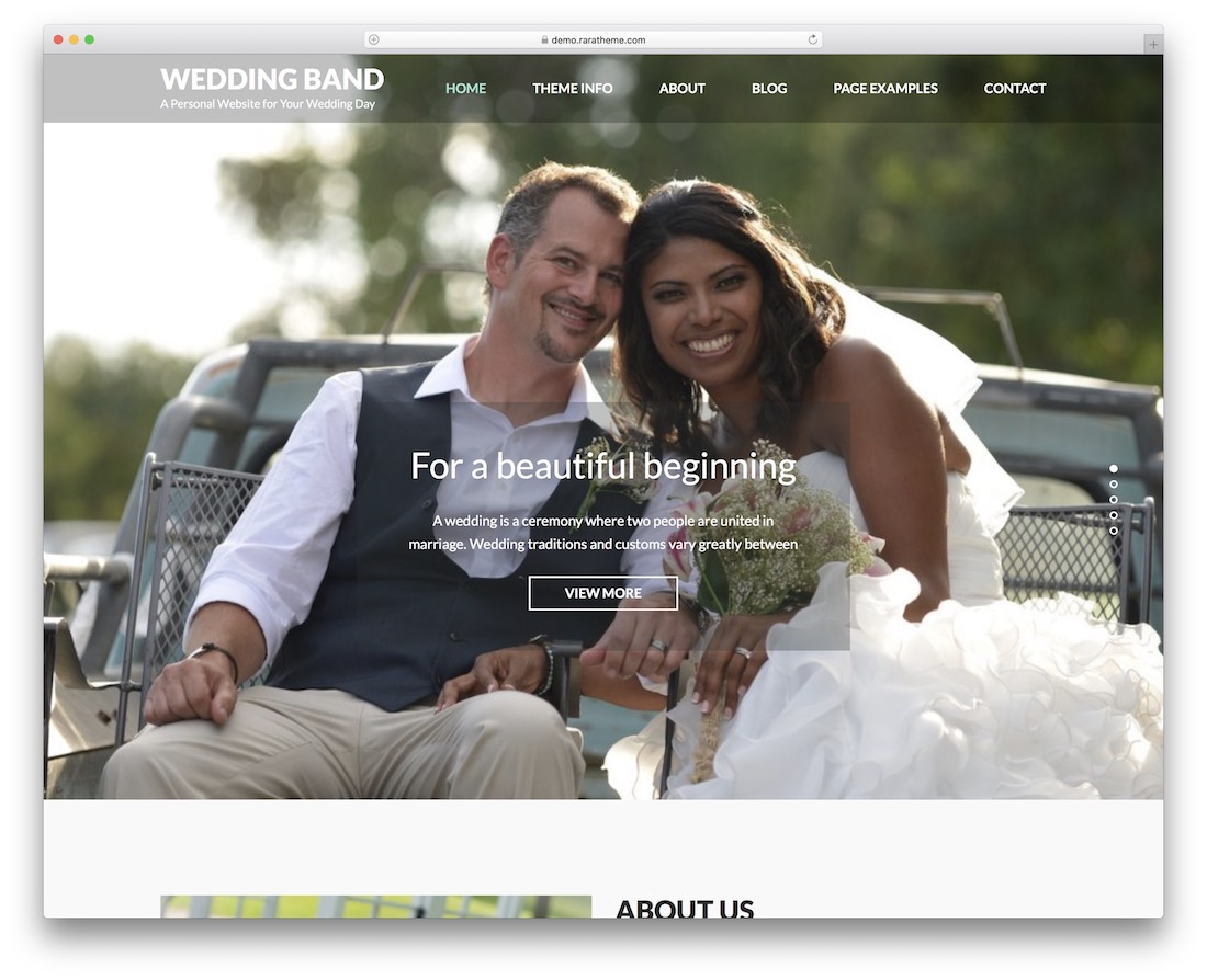 wedding band free wordpress theme