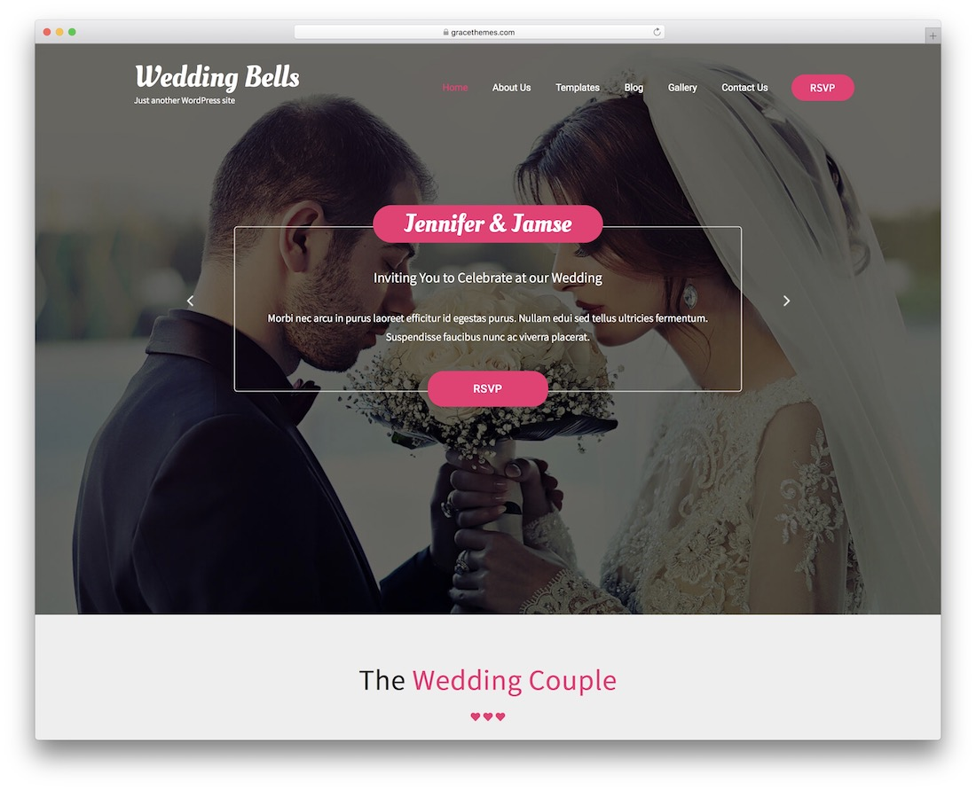 wedding bells lite free wordpress theme
