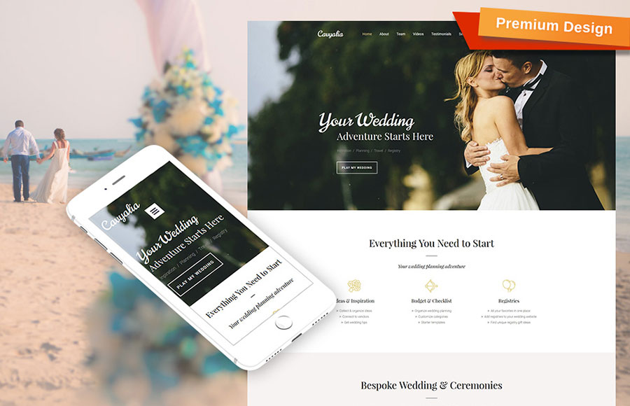 Wedding Services Moto CMS 3 Template