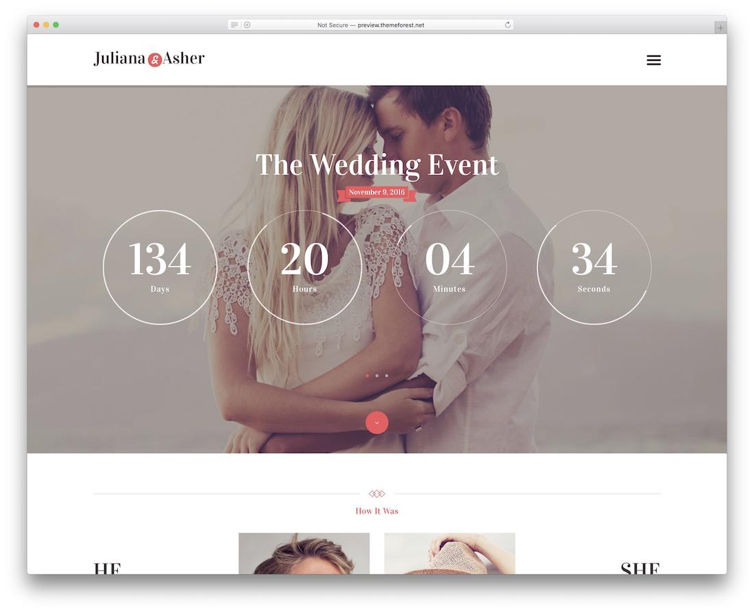 wedding day event planner wordpress theme