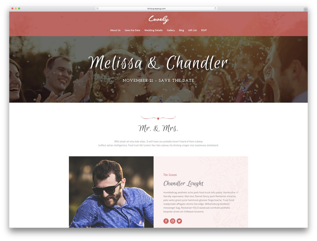 wedding divi child theme