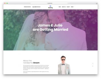 Wedding Free Website Template