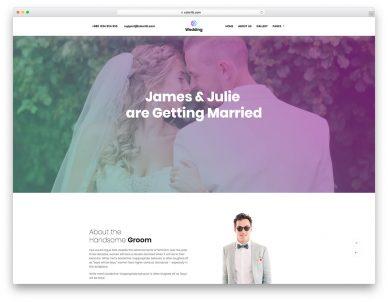 Wedding Free Website Template
