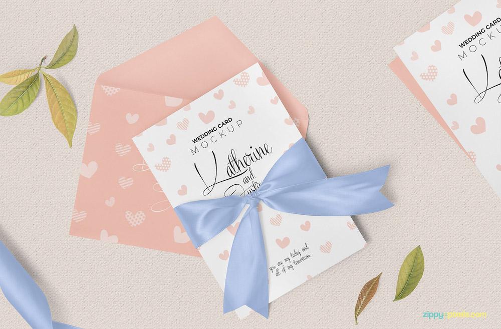wedding invitation card mockup download