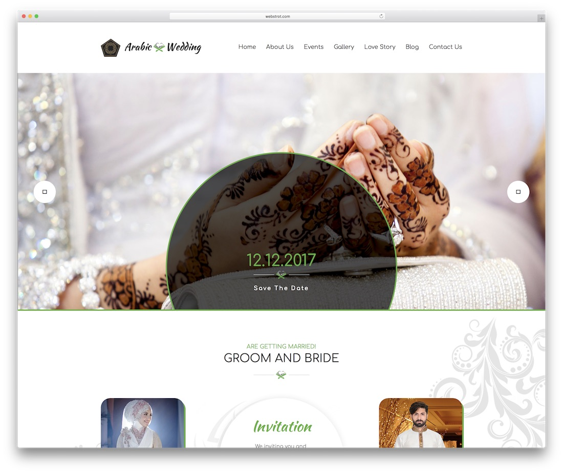 wedding invitation event website template