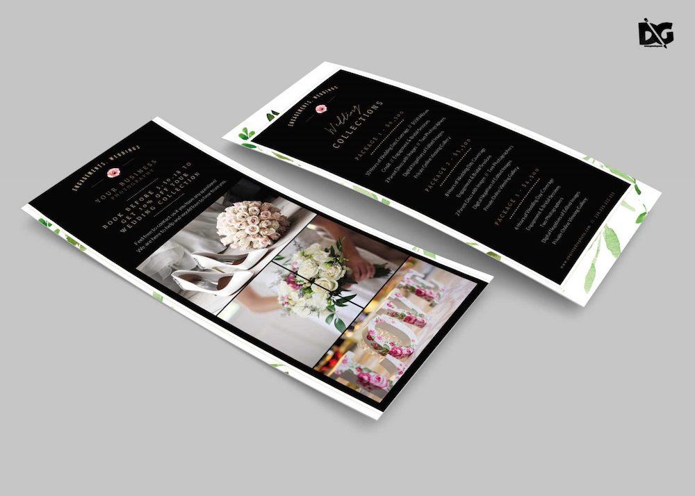 wedding invitation rack card psd mockup