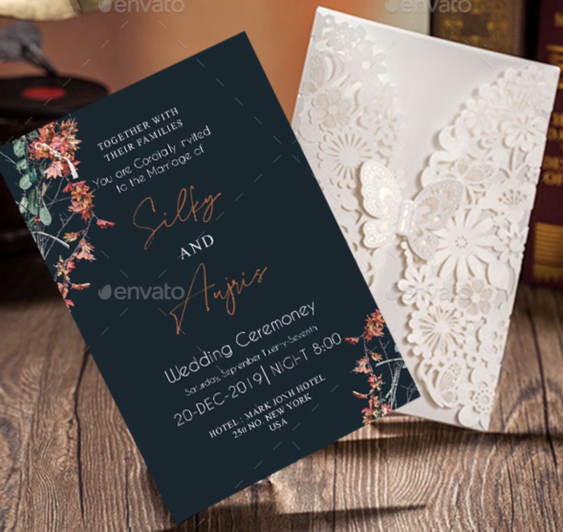 24 Best Wedding Invitation Mockup Templates 2020 - Colorlib
