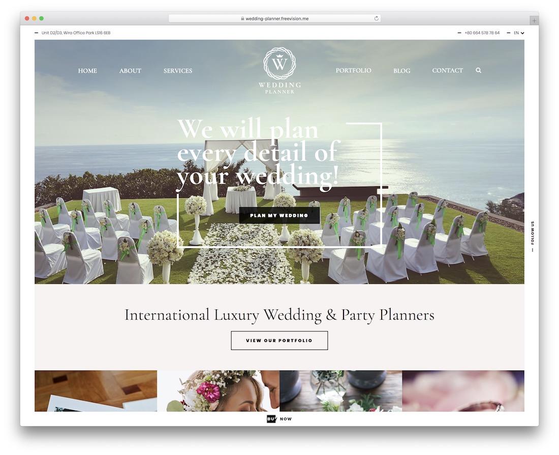 wedding planner event planner wordpress theme