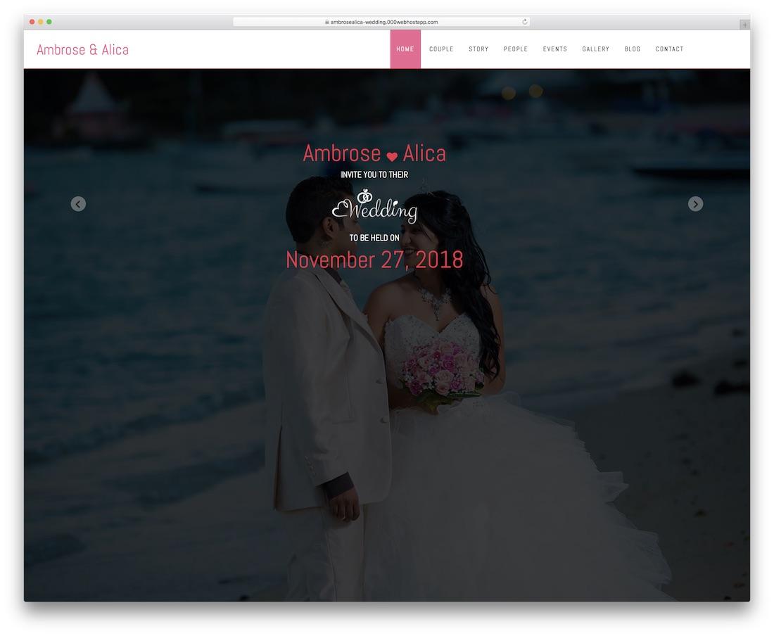 wedding responsive
