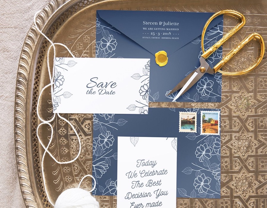 wedding stationery mockup set
