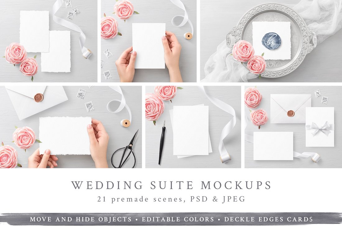 wedding suite mockups