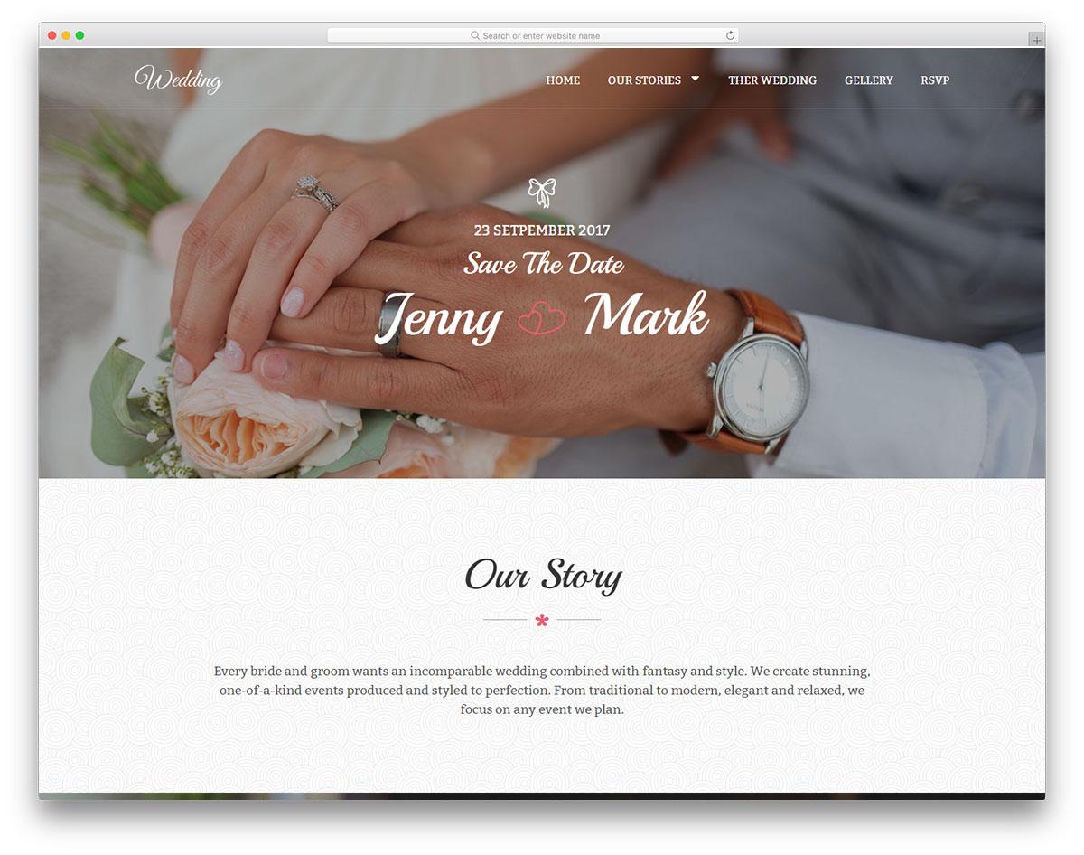 Скачать бесплатно html шаблон Wedding2