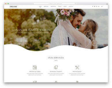WeddingDreams Free Template