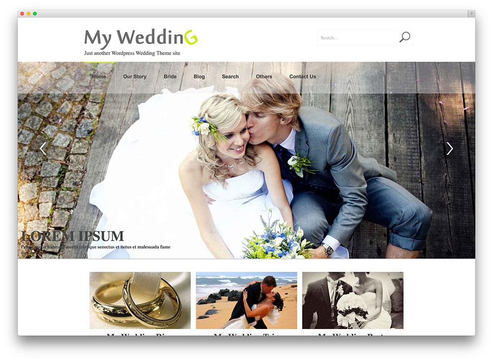 20  Beautiful and Free WordPress Wedding Themes 2017 - Colorlib