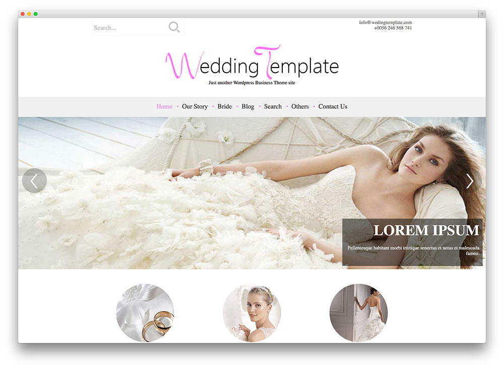 wedding style WordPress theme
