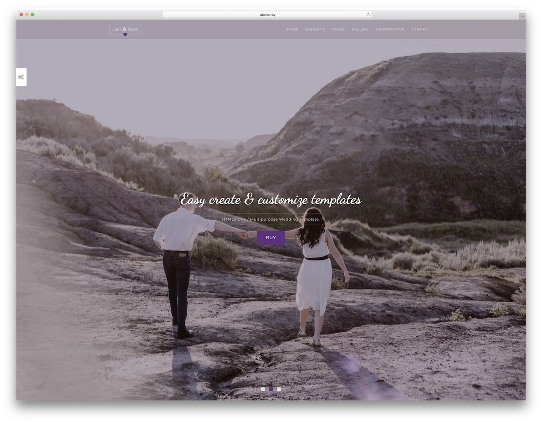 weddingtime html wedding website template