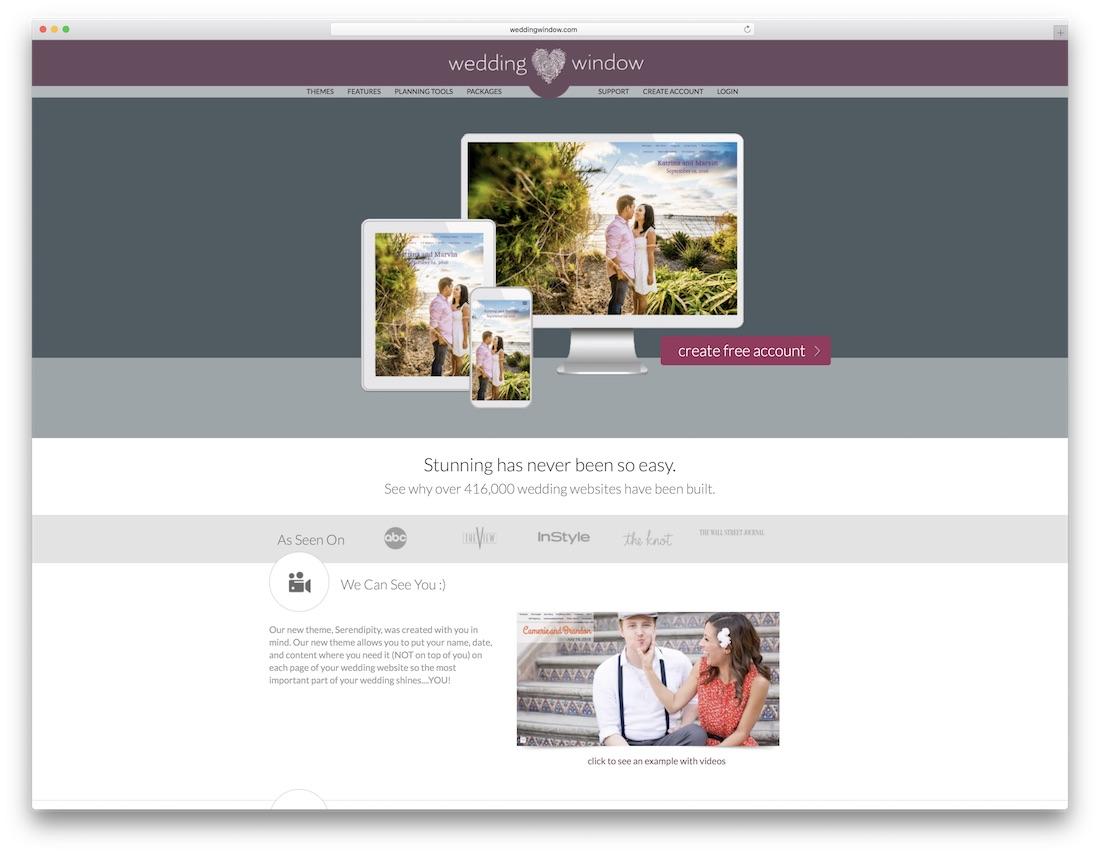 weddingwindow wedding website builder