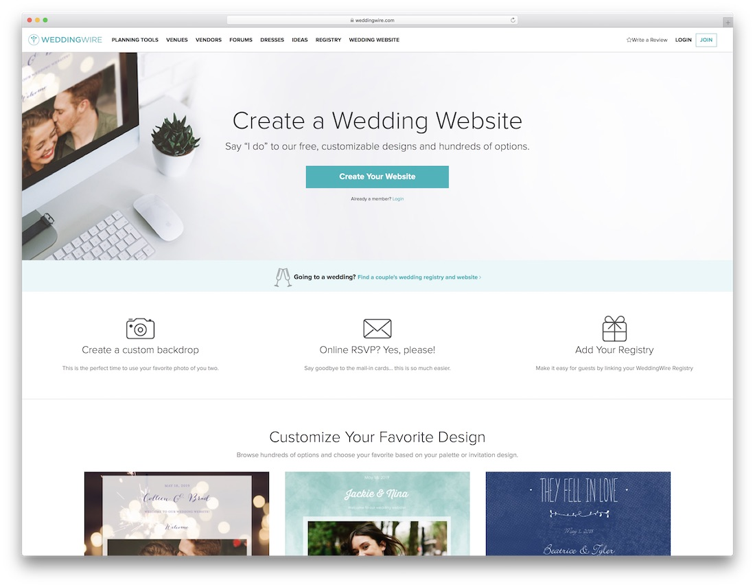 Find A Couple S Wedding Website.23 Best Wedding Website Builders For Gorgeous Sites 2019 Colorlib