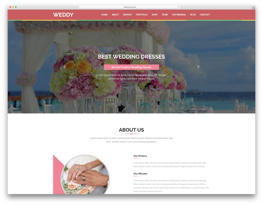 weddy html wedding website template