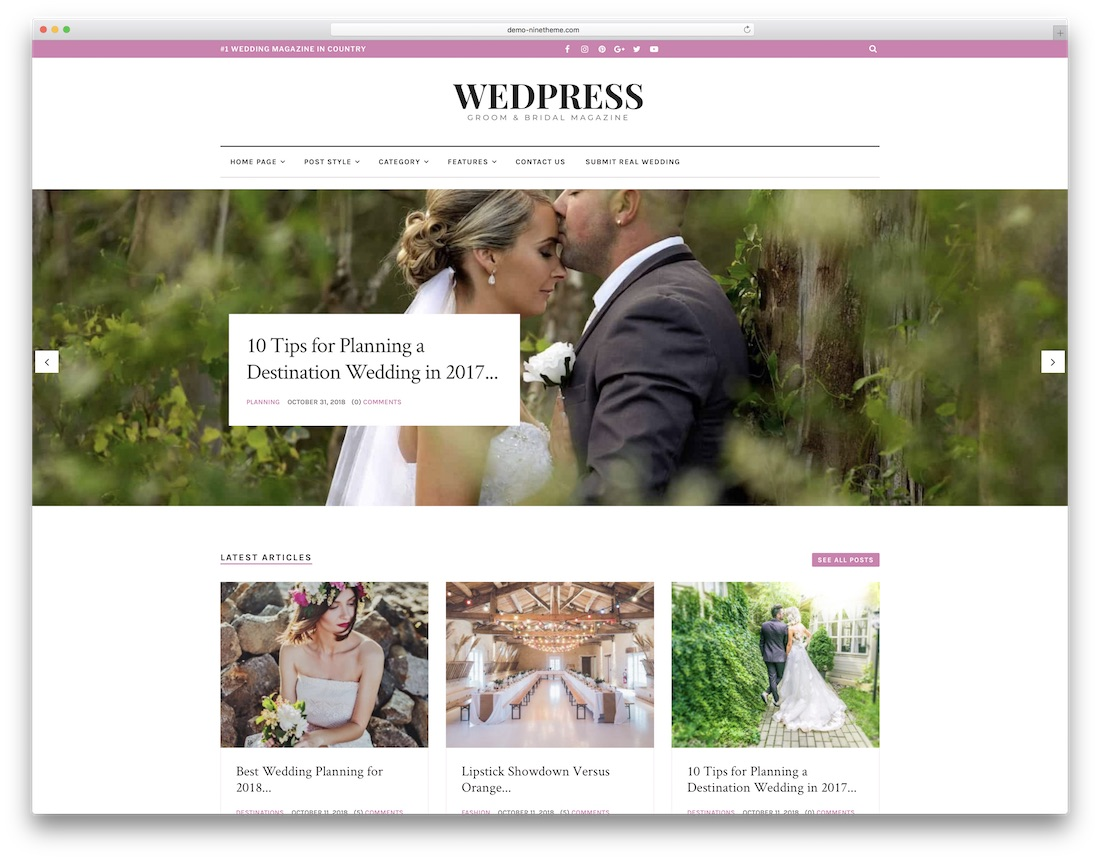 wedpress wordpress wedding theme