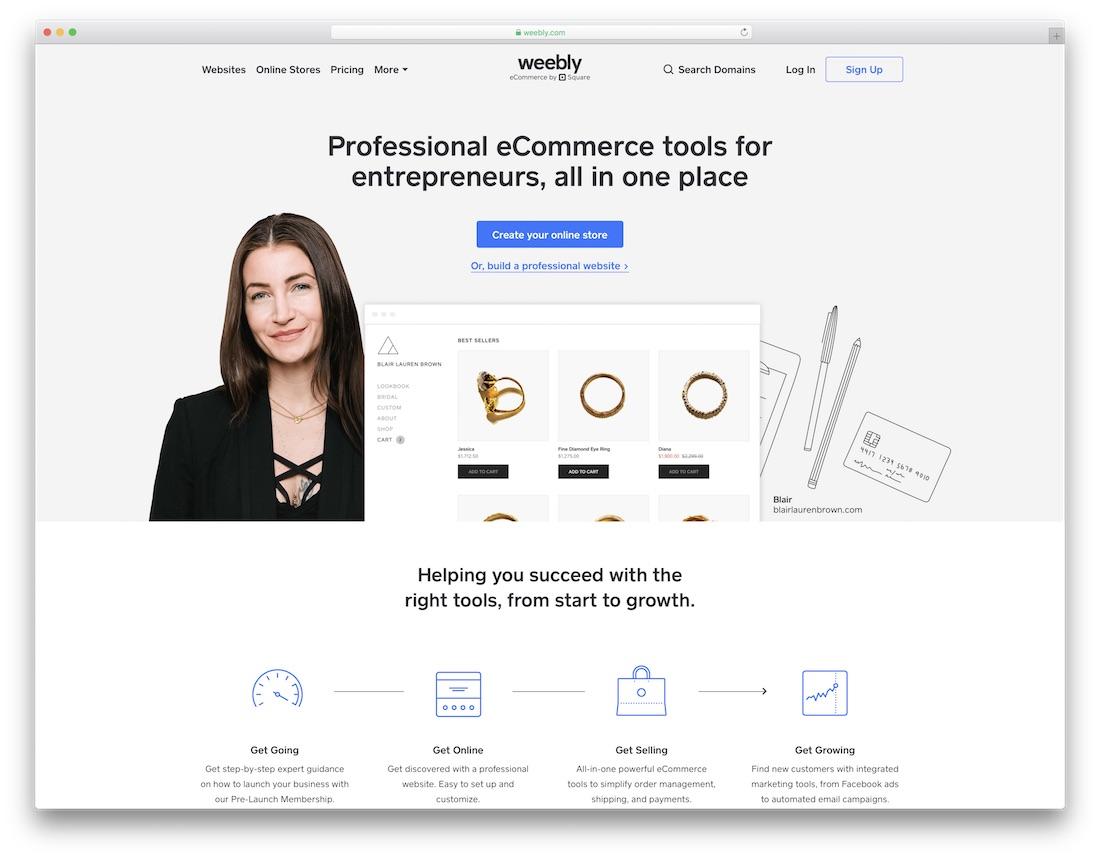 weebly beginner website builder