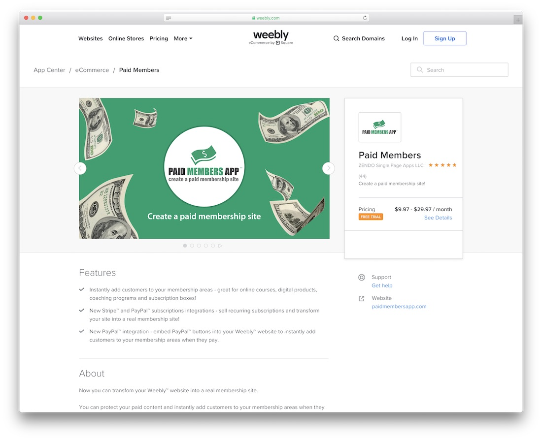 weebly membership website builder