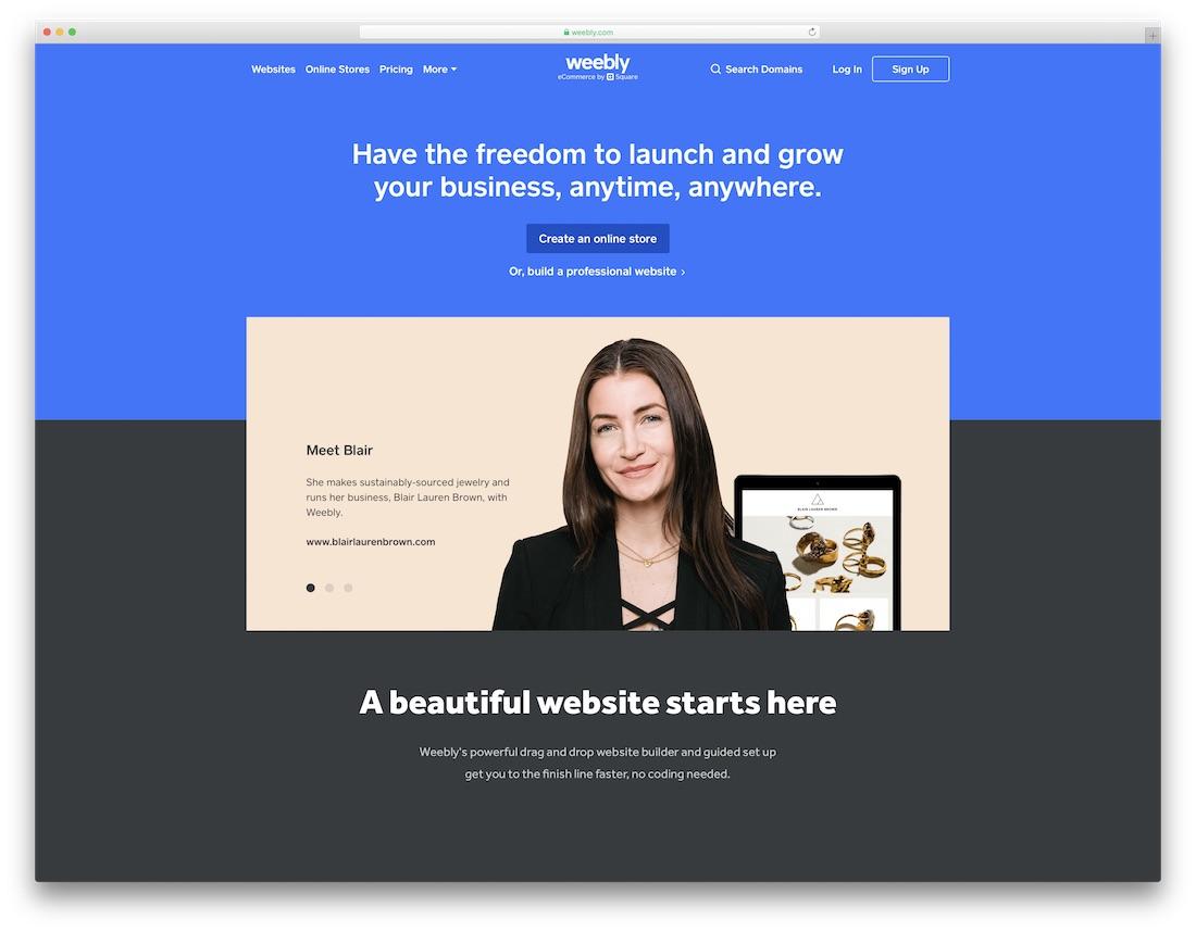 weebly website builder for fitness studio