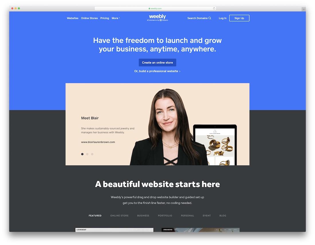 weebly wedding website builder