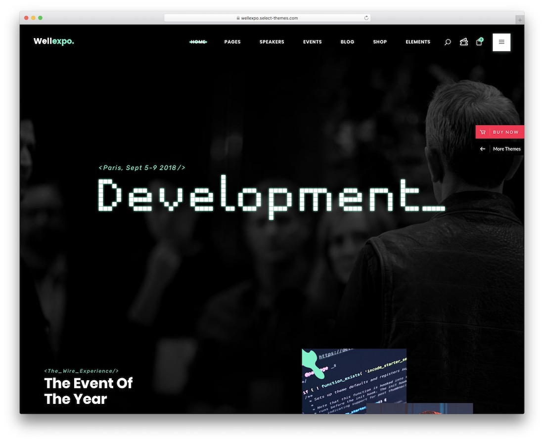 wellexpo wordpress theme for conference and event