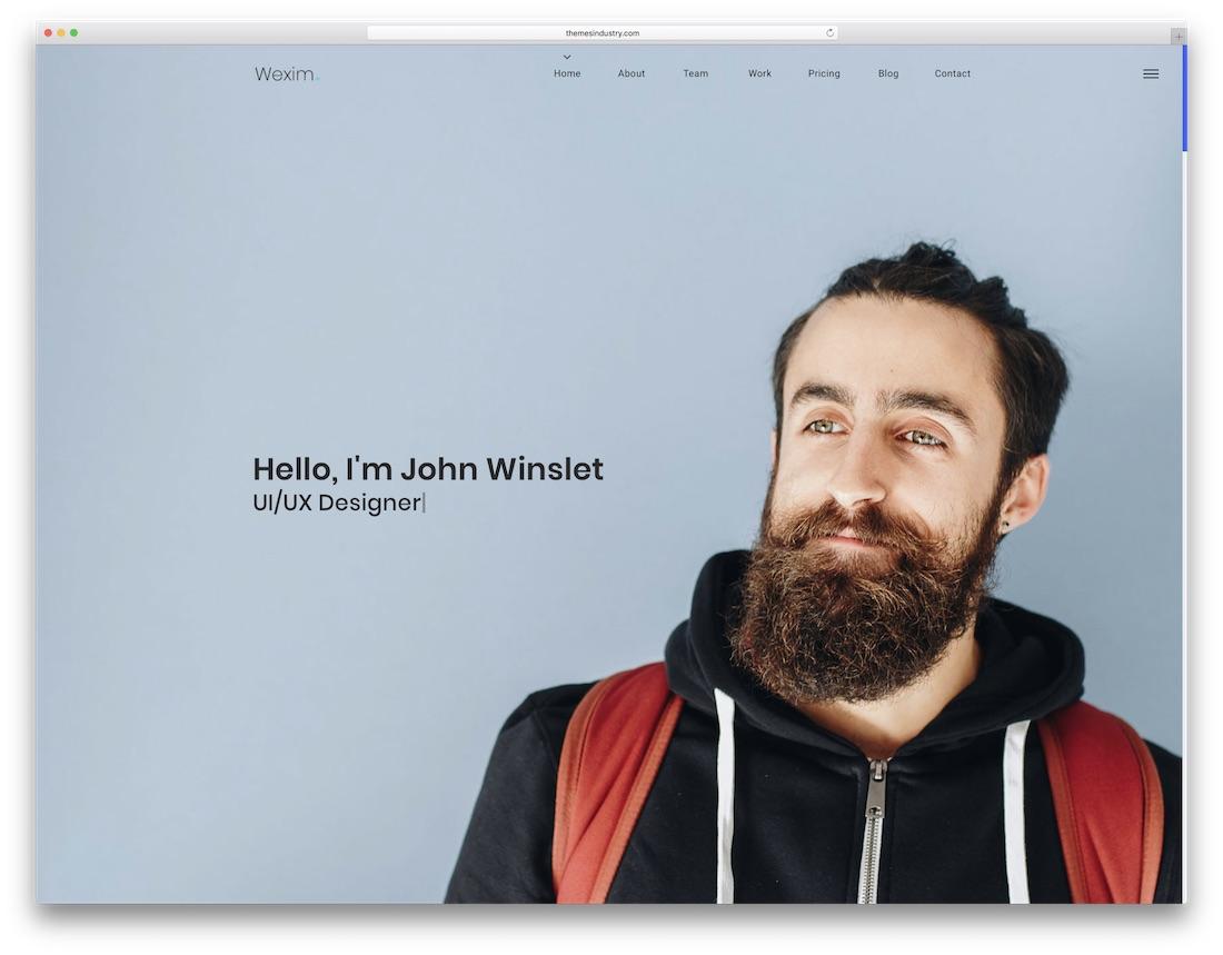 wexim bootstrap portfolio website template