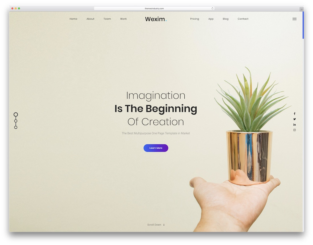 wexim creative website template
