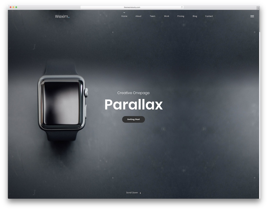 wexim parallax website template