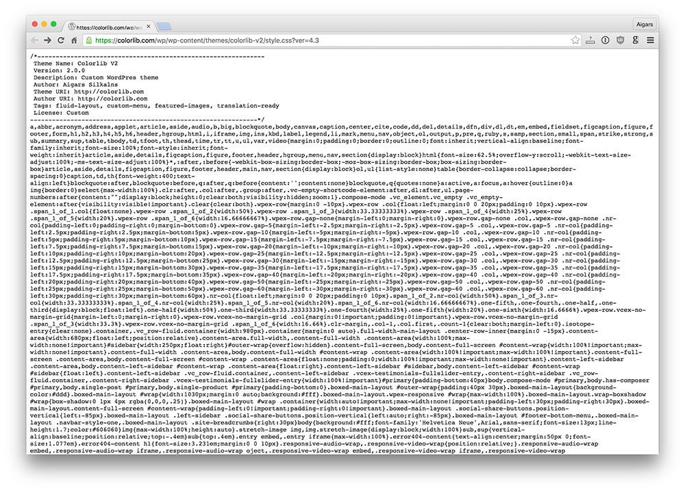 what colorlib theme wordpress use