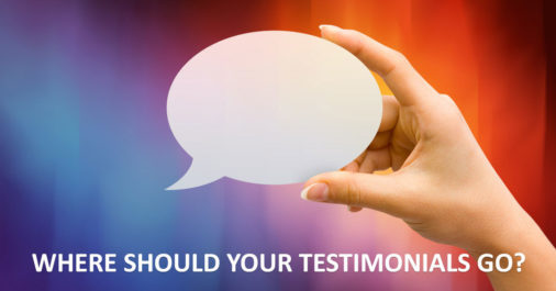 What Testimonial Placement Says