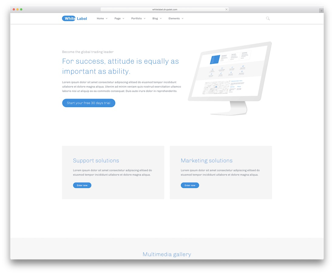 white label drupal business template