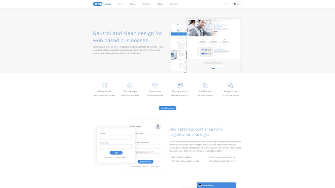 white label professional website template