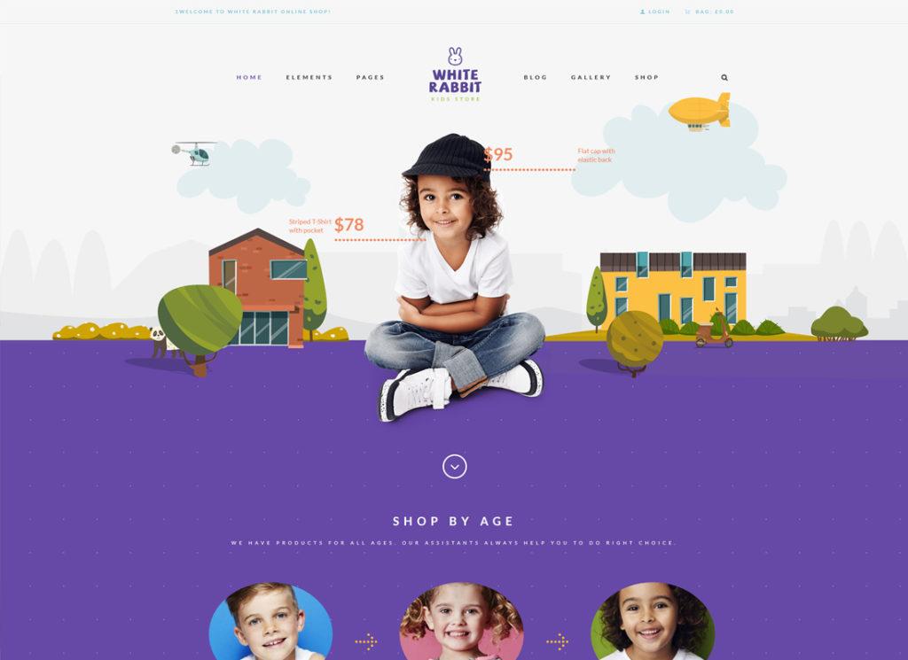 White Rabbit | Kids Toys & Children Clothing Store WordPress Theme
