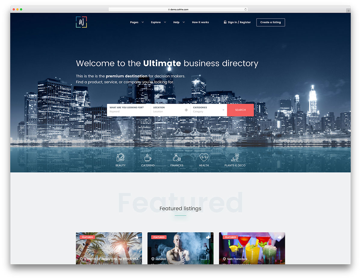 20 best directory wordpress themes 2018 colorlib whitelab is an advanced wordpress directory it is a specialized theme made to list and arrange like an experts book it comes with a sober accmission
