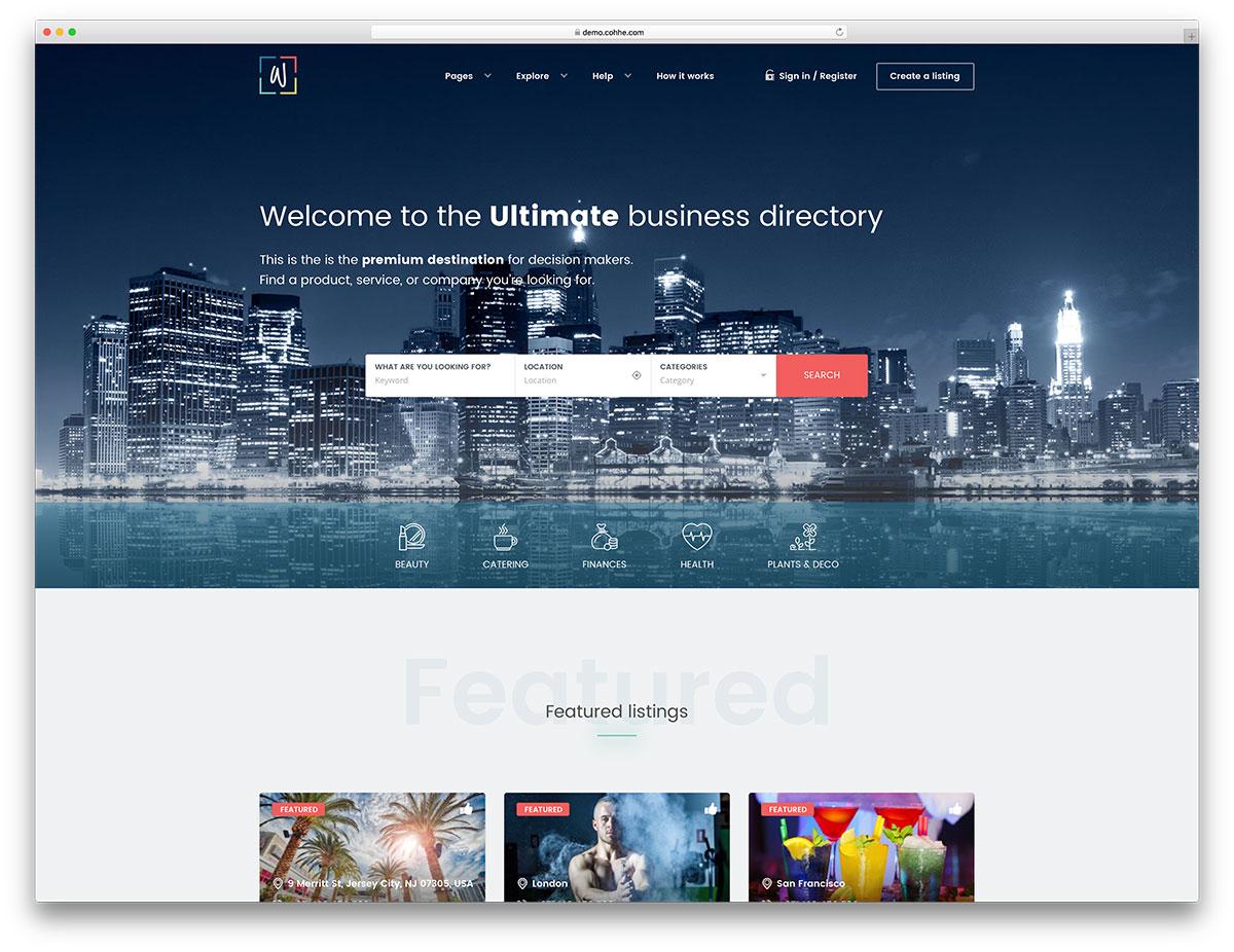 30+ Best Directory WordPress Themes 2019 - colorlib
