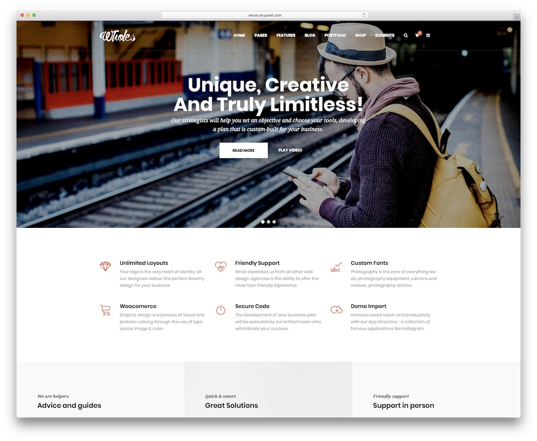 whole drupal business template