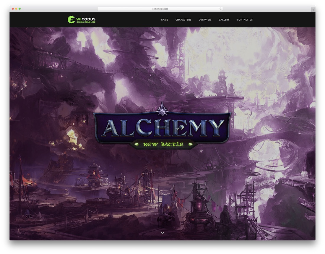 wicodus gaming html website template