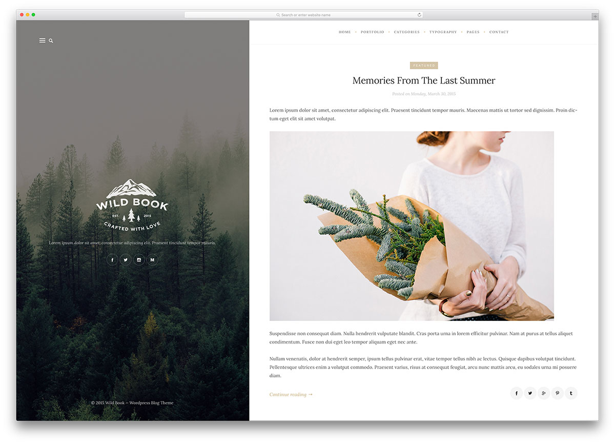 wildbook retro wordpress blog template