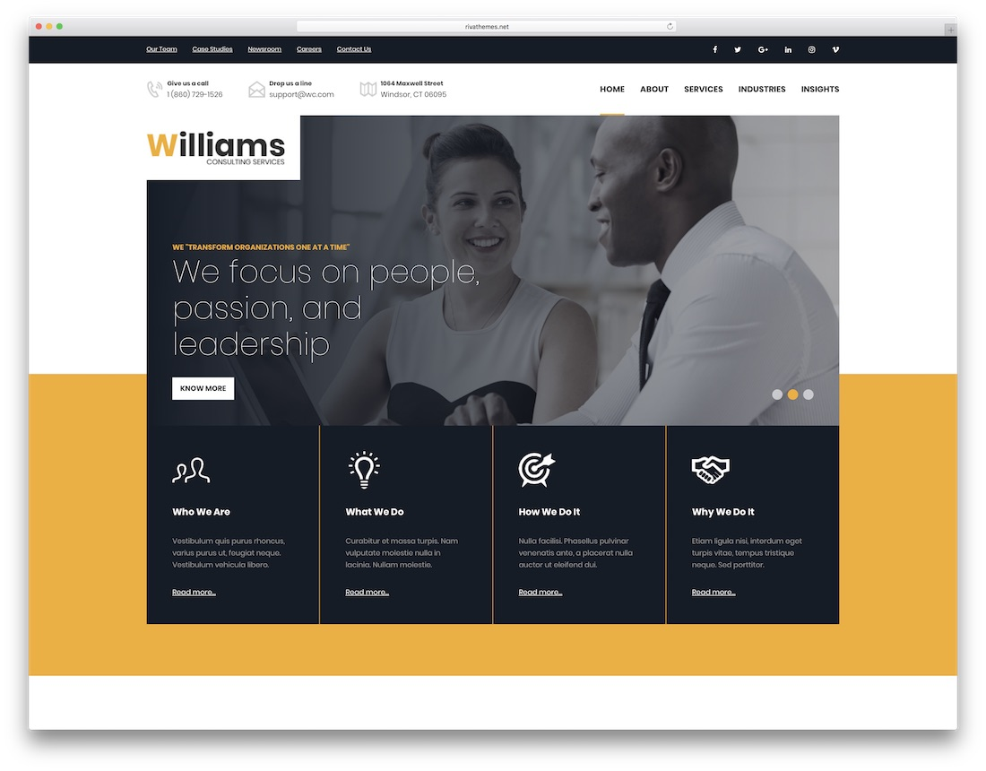 williams professional website template