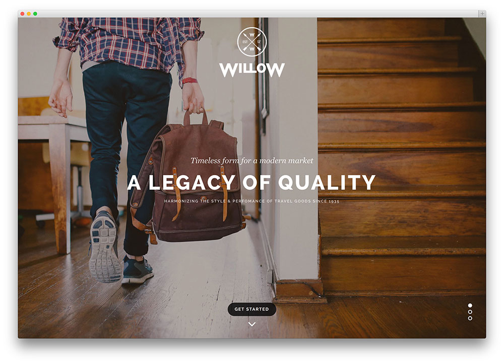 willow - flat design theme